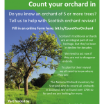 An image of the Count Our Orchard In flier